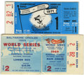 Baseball Collectibles:Tickets, 1969-71 Baltimore Orioles Postseason Ticket Stubs Lot of 2.Excellent pair of ticket stubs from the Baltimore Orioles' dyna...