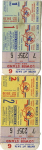 Baseball Collectibles:Tickets, 1961 World Series Ticket Stubs Lot of 2. From the magical year thatsaw the epic home run battle between Mantle and Maris a...