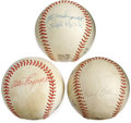 Autographs:Baseballs, Baseball Stars Multi-Signed Baseballs Lot of 3. Three multi-signedbaseballs that we offer here come to a total of 12 signa... (Total:3 )