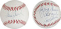 Autographs:Baseballs, Tom Seaver Single Signed Baseballs Lot of 2. Tom Terrific began hissparkling career as an ace for the emerging New York Na... (Total:2 )