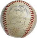 Autographs:Baseballs, 1979 Oakland Athletics Team Signed Baseball. The OAL (MacPhail)baseball that we make available here wears a light layer of...
