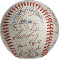 Autographs:Baseballs, 1982 California Angels Team Signed Baseball. The AL West winnersfrom the 1982 season are represented by the 27 signatures ...