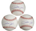 Autographs:Baseballs, Pete Rose Single Signed Baseballs Lot of 3. Fine trio of clean OMLbaseballs each don a high-quality sweet spot signature c...