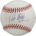 Autographs:Baseballs, Pedro Martinez Single Signed Baseball. Top notch offering from oneof the premier mound artists in the game today. LOA fr...