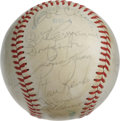Autographs:Baseballs, 1981 California Angels Team Signed Baseball. Twenty-eightsignatures appear on the OAL (MacPhail) orb that we see herecour...