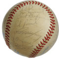 Autographs:Baseballs, 1984 California Angels Team Signed Baseball. Under skipper JohnMcNamara, the California Angels fought their way to a .500 ...