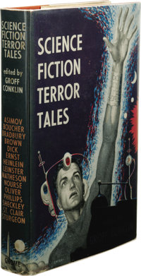 Groff Conklin (Editor): Science Fiction Terror Tales. (New York: Gnome Press, 1955), first edition, 262 pages, jacket de...