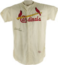 "Autographs:Jerseys, 1960's Curt Flood Signed St. Louis Cardinals Jersey. Home whiteflannel number ""21"" game worn jersey is a dead ringer for t..."