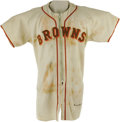 Baseball Collectibles:Uniforms, 1950 Tom Ferrick Game Worn Jersey. Tremendously rare flannel derives from the personal collection of top baseball executive...