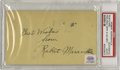 Autographs:Post Cards, 1934 Rabbit Maranville Signed Government Postcard. The diminutiveHall of Fame infielder snapped a fibula in spring trainin...