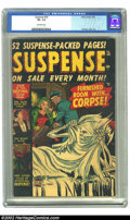 Golden Age (1938-1955):Horror, Suspense #20 (Atlas, 1952) CGC VF- 7.5 Off-white pages. Romita,Ayers art. Overstreet 2002 VF 8.0 value = $121. ...
