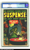 Golden Age (1938-1955):Horror, Suspense #24 (Atlas, 1952) CGC VF- 7.5 Off-white pages. Heathcover. Tuska and Maneely art. Overstreet 2002 VF 8.0 value = $...