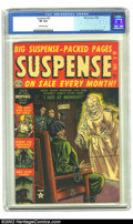 Golden Age (1938-1955):Horror, Suspense #25 (Atlas, 1952) CGC VF 8.0 Off-white pages. Electricchair cover and story. Romita, Sinnott art. Overstreet 2002 ...