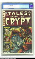 Golden Age (1938-1955):Horror, Tales From the Crypt #35 (EC, 1953) CGC VF/NM 9.0 Off-white pages.Jack Davis cover. Orlando, Kamen, and Ingels art. Overstr...
