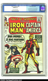 Tales of Suspense #59 (Marvel, 1964) CGC VF/NM 9.0 Cream to off-white pages. Iron Man/Captain America double feature beg...