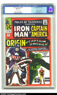 Tales of Suspense #63 (Marvel, 1965) CGC NM- 9.2 Cream to off-white pages. First Silver Age origin of Captain America. K...