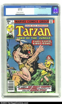 Tarzan Lord of the Jungle #1 (Marvel, 1977) CGC VF+ 8.5 Off-white to white pages. John Buscema cover and art. Overstreet...