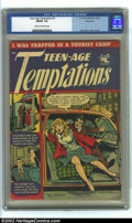 Golden Age (1938-1955):Romance, Teen-Age Temptations #1 Windy City pedigree (St. John, 1952) CGCFN/VF 7.0 Cream to off-white pages. Matt Baker cover and ar...