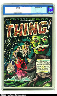 The Thing! #4 (Charlton, 1952) CGC FN+ 6.5 Off-white pages. Al Fago cover. Overstreet 2002 FN 6.0 value = $150