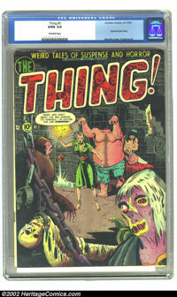 The Thing! #5 (Charlton, 1952) CGC GD/VG 3.0 Off-white pages. Severed head cover by Lou Morales. Overstreet 2002 GD 2.0...