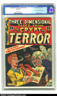 Three Dimensional Tales from the Crypt of Terror #2 (EC, 1954) CGC VG 4.0 Off-white pages. Feldstein cover. Two pairs of...