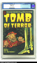Miscellaneous: , Tomb of Terror #9 (Harvey, 1953) CGC VF/NM 9.0 Cream to off-white pages. Elias, Nostrand, and Powell art. Overstreet 2002 NM...