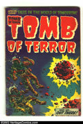 Golden Age (1938-1955):Horror, Tomb of Terror #13 (Harvey, 1954) Condition: FA/GD. Overstreet 2002GD 2.0 value = $33.  From the collection of Bobby Harm...