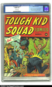 Tough Kid Squad Comics #1 (Timely, 1942)CGC VG/FN 5.0 Off-white pages. This one-shot preceded the first appearance of Th...