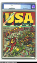 Golden Age (1938-1955):Superhero, U.S.A Comics #2 (Timely, 1941) CGC GD+ 2.5 Off-white pages. Hitler appears in his crazy-looking contraption to battle Captai...