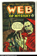 Golden Age (1938-1955):Horror, Web of Mystery #16 (Ace, 1952) Condition: FN. Overstreet 2002 FN6.0 value = $72. From the collection of Bobby Harmon....