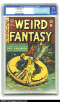 Golden Age (1938-1955):Science Fiction, Weird Fantasy #18 (EC, 1953). CGC FN+ 6.5 Cream to off-white pages.Overstreet 2001 FN 6.0 value = $84....
