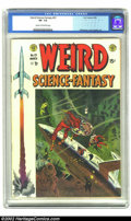 Golden Age (1938-1955):Science Fiction, Weird Science-Fantasy #23 (EC, 1954) CGC VF- 7.5 Cream to off-whitepages. Wood cover. Williamson and Krigstein art. Overstr...