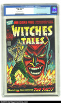 Miscellaneous: , Witches Tales #19 (Harvey, 1953) CGC NM- 9.2 Cream to off-white pages. Elias, Nostrand, and Powell art. Overstreet 2002 NM 9...