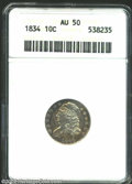 Bust Dimes: , 1834 10C Small 4 AU50 ANACS. The current Coin Dealer ...