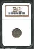 Seated Dimes: , 1861-S 10C XF40 NGC. ...
