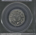 1652 SHILNG Pine Tree Shilling, Small Planchet VF35 PCGS. Noe-16, R.2. 69.4 grs. A very late die state, there is a sizea...