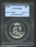 Proof Franklin Half Dollars: , 1961 50C PR 68 PCGS. ...