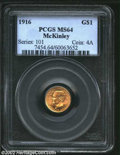 Commemorative Gold: , 1916 $1 McKinley MS64 PCGS. The current Coin Dealer ...