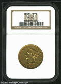 Liberty Eagles: , 1848 $10 XF40 NGC. ...