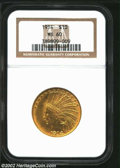 Indian Eagles: , 1914 $10 MS60 NGC. ...