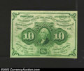 Fractional Currency:First Issue, First Issue 10c, Fr-1242, Choice CU. This type note has ...