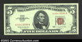 Small Size:Legal Tender Notes, 1963 $5 Legal Tender Note, Fr-1536, Gem CU. This is a very ...
