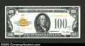Small Size:Gold Certificates, 1928 $100 Gold Certificate, Fr-2405, XF. Three hard folds are ...