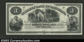 Obsoletes By State:Louisiana, 18-- $3 Citizens' Bank of Louisiana, New Orleans, LA, G6, ...