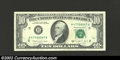 Error Notes:Ink Smears, 1988A $1 Federal Reserve Note, Choice AU. Vertical ink smear ...