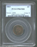 Proof Indian Cents: , 1865 1C PR 65 Red and Brown PCGS. ...