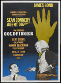 "Movie Posters:James Bond, Goldfinger (United Artists, R-1967). Swedish One Sheet (27"" X 39"").James Bond...."