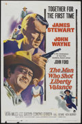 """Movie Posters:Western, The Man Who Shot Liberty Valance (Paramount, 1962). One Sheet (27"""" X 41""""). Western...."""