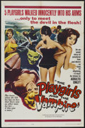"""Movie Posters:Horror, The Playgirls and the Vampire (Fanfare, 1963). One Sheet (27"""" X 41""""). Horror...."""