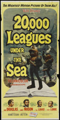 "Movie Posters:Science Fiction, 20,000 Leagues Under the Sea (Buena Vista, R-1963). Three Sheet(41"" X 81""). Science Fiction...."